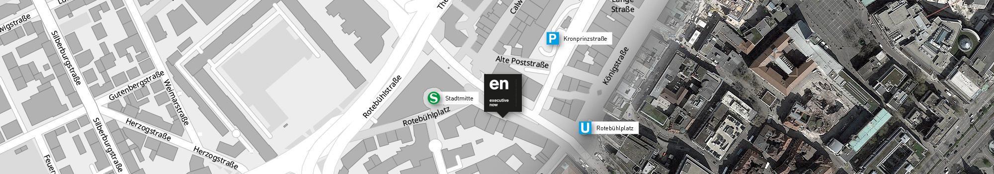 executive now - Ort, Parkhaus, U- und S-Bahn