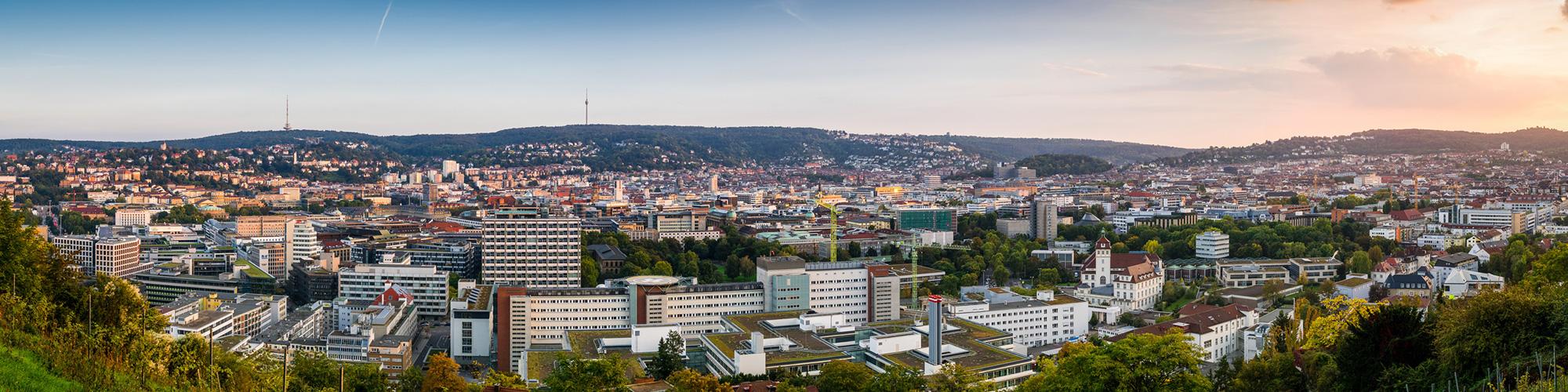 Panoramabild von Stuttgart